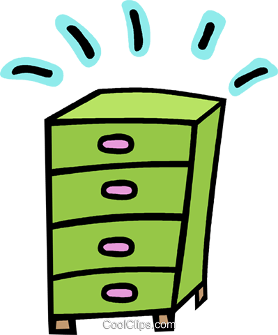 dresser, chest of drawers Royalty Free Vector Clip Art illustration vc012766