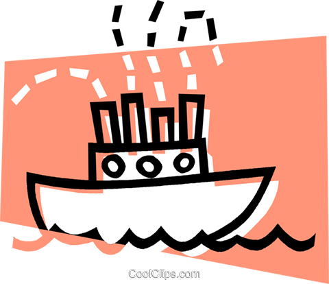 cargo ship Royalty Free Vector Clip Art illustration vc012845