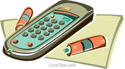 Remote control Royalty Free Vector Clip Art illustration vc012980