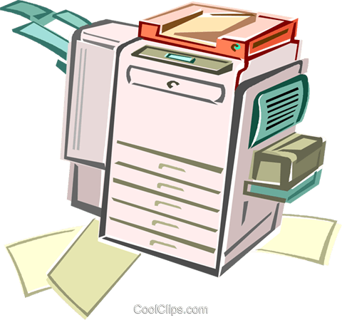 printer Royalty Free Vector Clip Art illustration vc012985