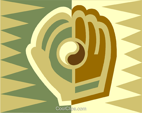 baseball glove Royalty Free Vector Clip Art illustration vc013012