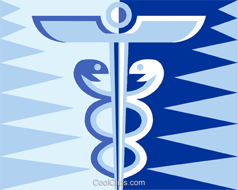 Caduceus symbol Royalty Free Vector Clip Art illustration vc013015