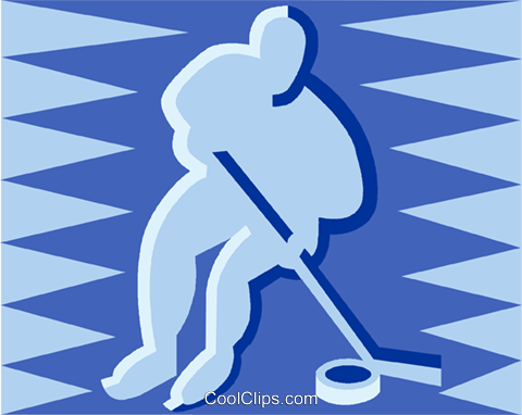 hockey player Royalty Free Vector Clip Art illustration vc013020