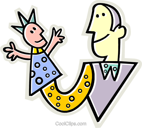Puppet show Royalty Free Vector Clip Art illustration vc013059