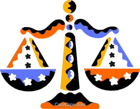 Scales of Justice Royalty Free Vector Clip Art illustration vc013061