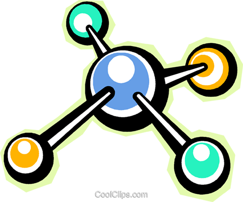 Colorful molecules Royalty Free Vector Clip Art illustration vc013128