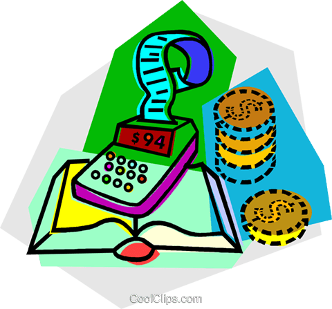 Calculators Royalty Free Vector Clip Art illustration vc013215