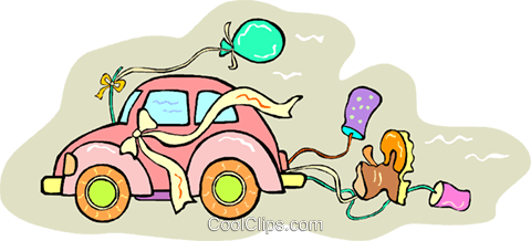 Just Married Vektor Clipart Bild vc013354