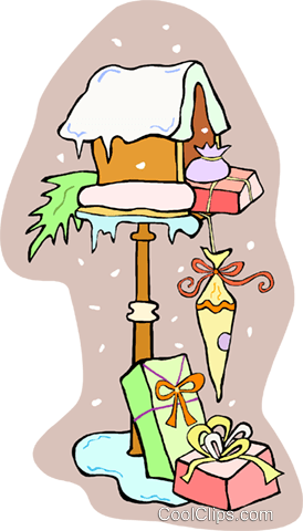 Mail box with Christmas presents Royalty Free Vector Clip Art illustration vc013355