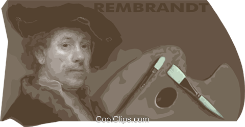Rembrandt Royalty Free Vector Clip Art illustration vc013402