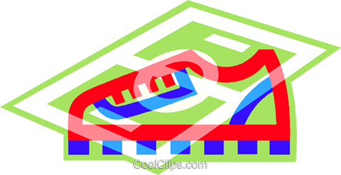 shoe, soccer cleat Royalty Free Vector Clip Art illustration vc013412