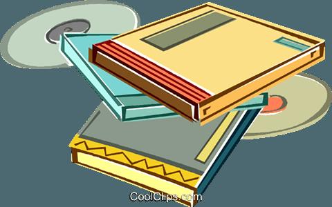 书籍,cd 免版税矢量剪贴画插图