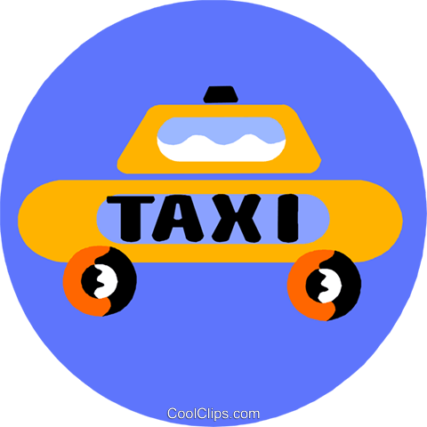 taxi Royalty Free Vector Clip Art illustration vc013618