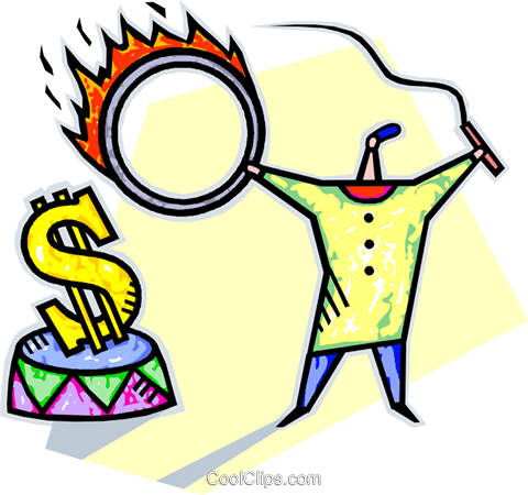 making money work for you Royalty Free Vector Clip Art illustration vc013661
