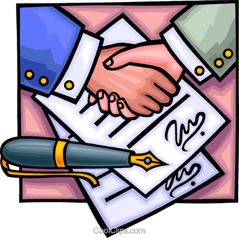 Business Contracts Royalty Free Vector Clip Art illustration vc013690
