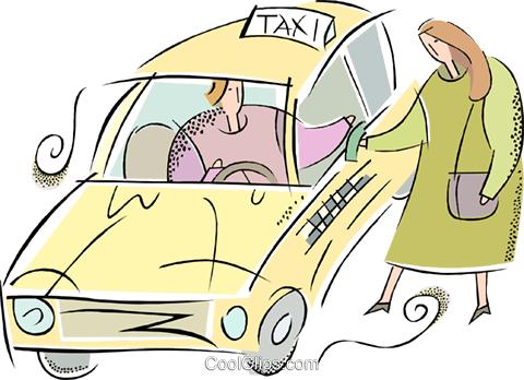 taxicabs Royalty Free Vector Clip Art illustration vc013907