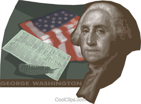 George Washington Royalty Free Vector Clip Art illustration vc013947