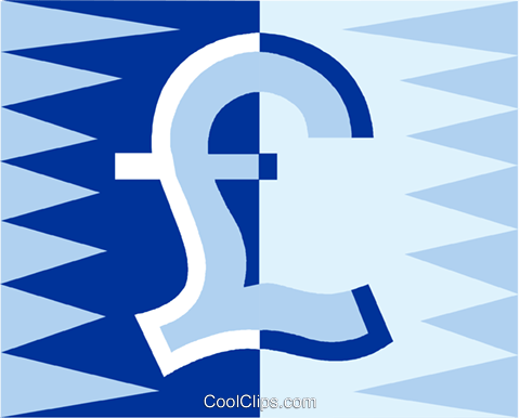 Currency Symbol British Pound Sterling Royalty Free Vector Clip Art
