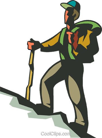 man hiking up hill royalty free vector clip art illustration rh search coolclips com