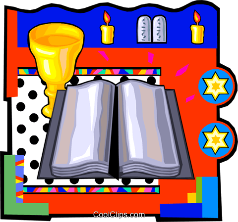 Jewish religion Royalty Free Vector Clip Art illustration vc014196