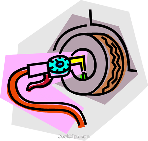 air hose and air gauge Royalty Free Vector Clip Art illustration vc014315