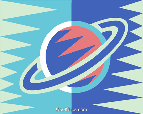 planet Saturn Royalty Free Vector Clip Art illustration vc014472
