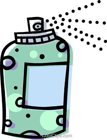 spray can Royalty Free Vector Clip Art illustration vc014537