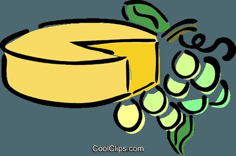 Käse clipart schwarz weiß  Käse und Weintrauben Vektor Clipart Bild -vc014594-CoolCLIPS.com