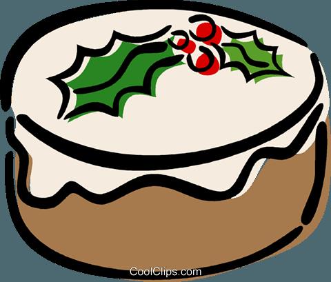 Christmas cake Royalty Free Vector Clip Art illustration ...