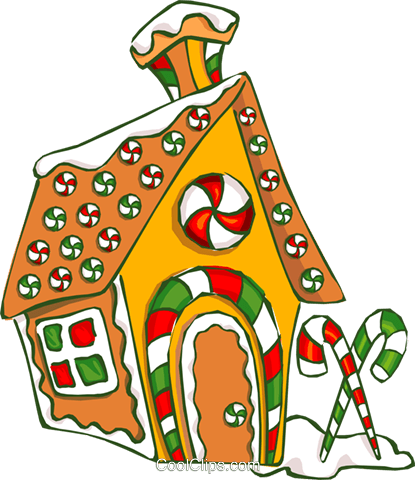 Gingerbread house Royalty Free Vector Clip Art illustration -vc014632 ...