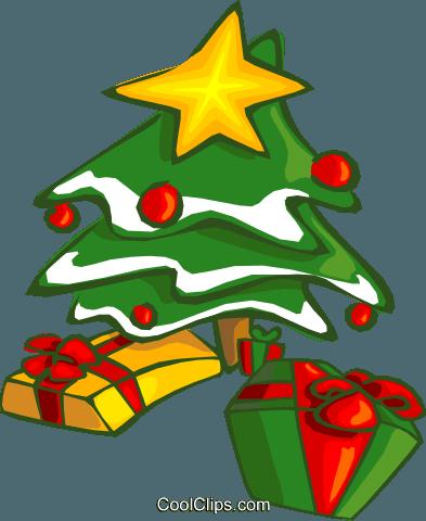 weihnachtsbaum und geschenke vektor clipart bild vc014635. Black Bedroom Furniture Sets. Home Design Ideas