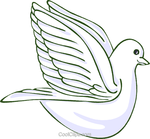 peace dove Royalty Free Vector Clip Art illustration vc014658