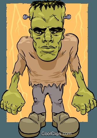 Cartoon Frankenstein Royalty Free Vector Clip Art Illustration