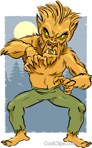 Cartoon Werewolf Royalty Free Vector Clip Art illustration vc014685