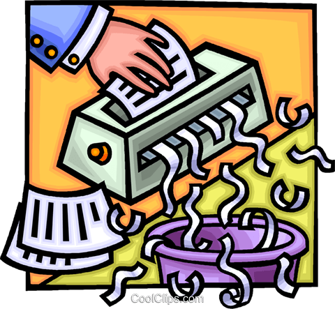 paper shredder Royalty Free Vector Clip Art illustration vc014734