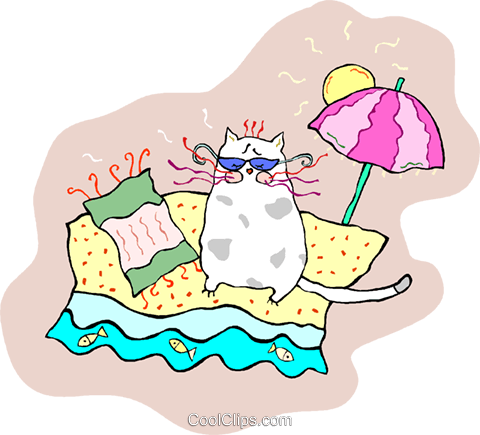 cool cat Royalty Free Vector Clip Art illustration vc014741