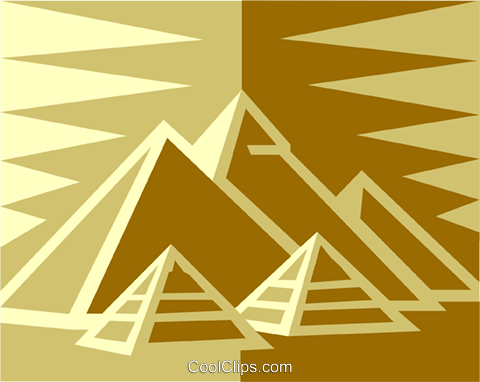 Astonishing pyramid vector pictures
