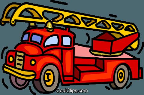 Feuerwehrauto, Feuerwehrauto Vektor Clipart Bild -vc014975 ...