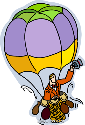 Hot Air Balloons Vektor Clipart Bild vc014985