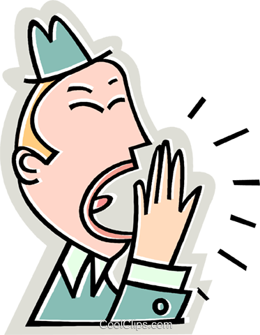 businessman yawning Royalty Free Vector Clip Art illustration vc015006