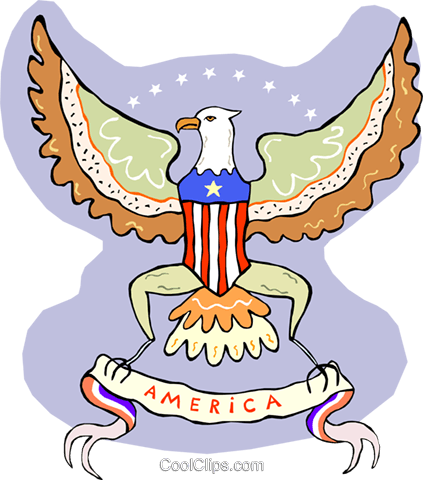 American crest Royalty Free Vector Clip Art illustration vc015177