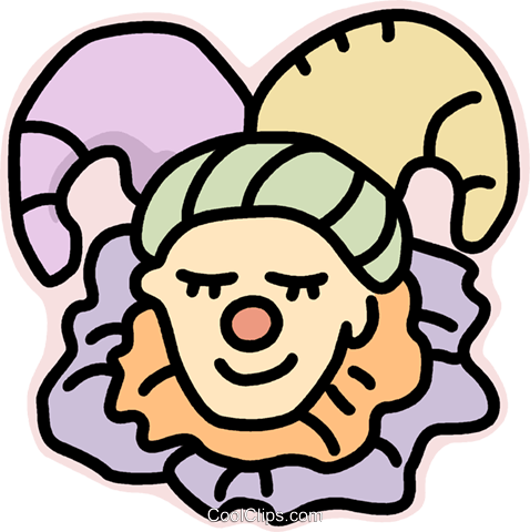 Court jester Royalty Free Vector Clip Art illustration vc015253