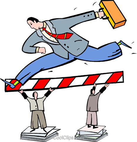 jumping hurdles Royalty Free Vector Clip Art illustration vc015306
