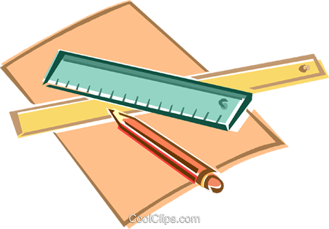 ruler, pencil, paper Royalty Free Vector Clip Art ...