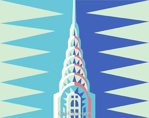 chrysler building royalty free vector clip art illustration rh search coolclips com Chrysler Building Crown chrysler building silhouette vector