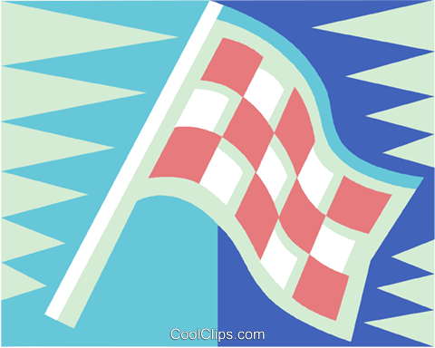 checkered flags Royalty Free Vector Clip Art illustration vc015435