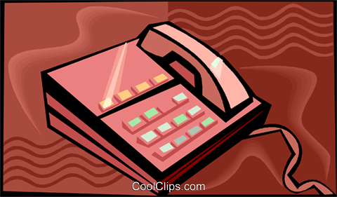 telephones Royalty Free Vector Clip Art illustration vc015441