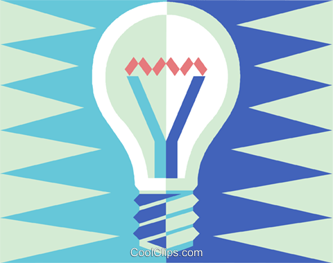 light bulb Royalty Free Vector Clip Art illustration vc015452