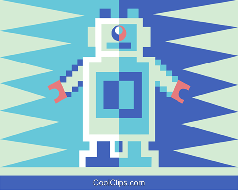 toy robot Royalty Free Vector Clip Art illustration vc015461