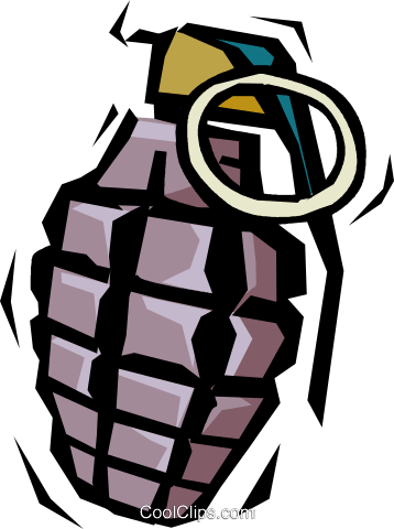 Hand grenade Royalty Free Vector Clip Art illustration vc015520